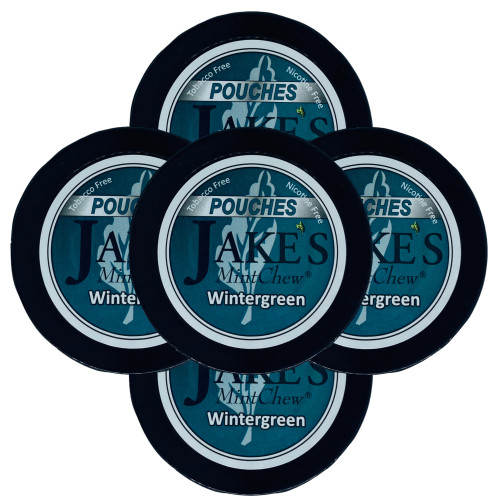 Jake's Mint Chew Pouches Wintergreen 5 Cans