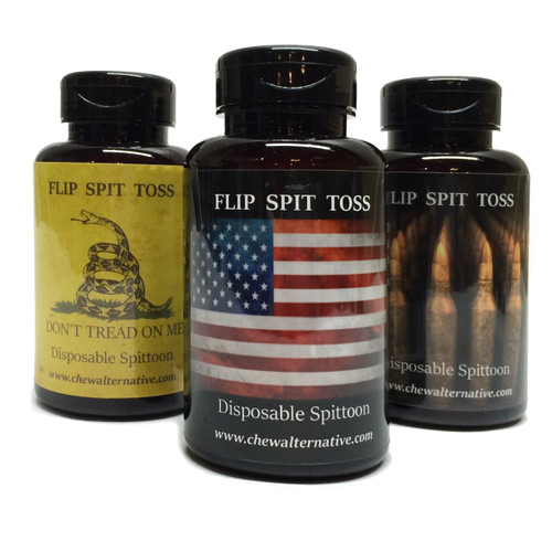 Mud Bud Disposable Spittoon 3 Pack - US Flag, Don't Tread On Me, and Ammo