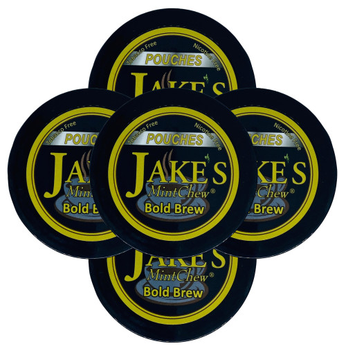 Jake's Mint Chew Pouches Bold Brew 5 Cans