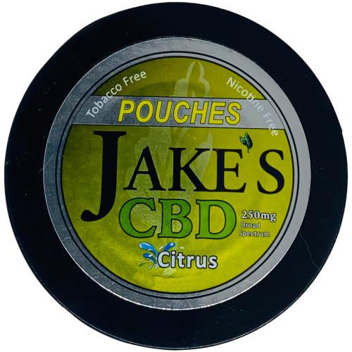 Jake's Mint Chew CBD Pouches Citrus 1 Can