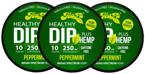 Teaza Herbal Hemp Peppermint Pouches Single 3 Cans