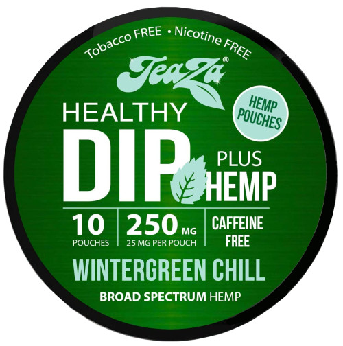 Teaza Herbal Hemp Wintergreen Chill Pouches Single