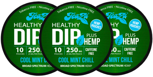 Teaza Herbal CBD Hemp Cool Mint Pouches Single 3 Cans