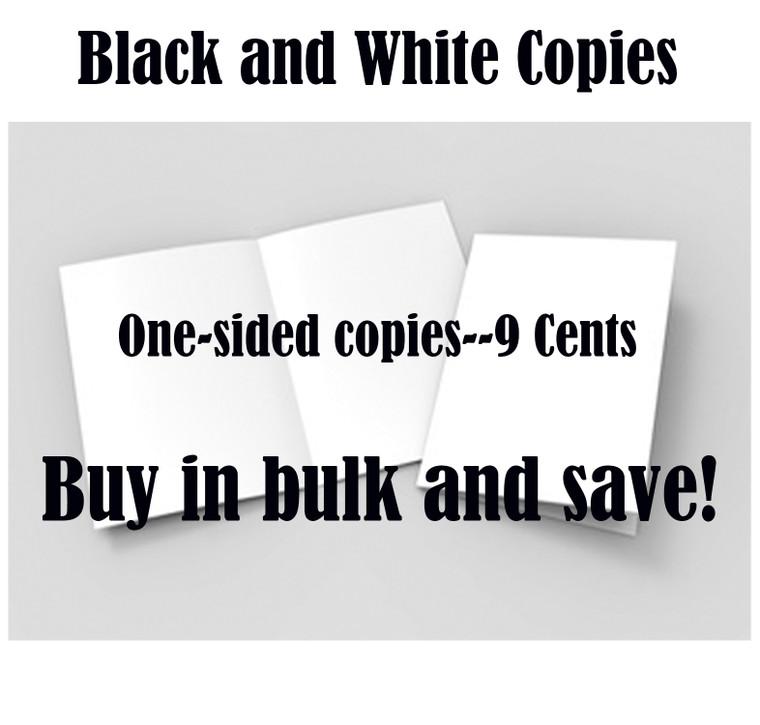 Copy/Print (Black & White 1-Sided)
