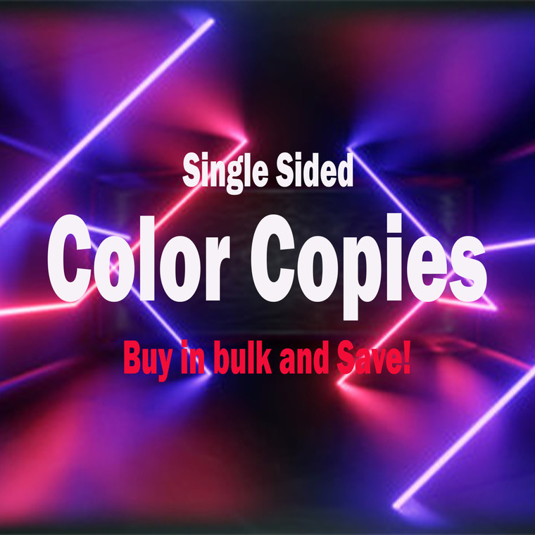 Copy/Print (Color 1-Sided)