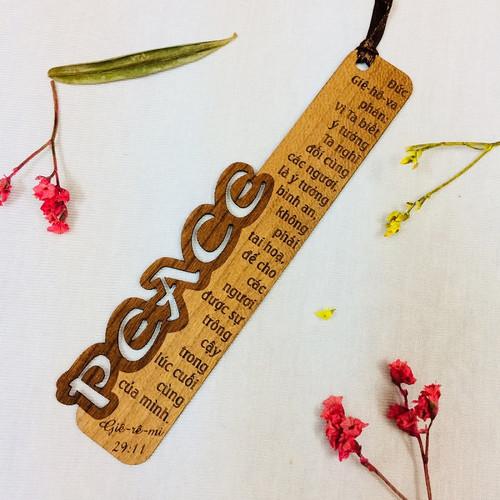 Bookmark Gỗ Nhỏ - Peace - Giê-rê-mi 29:11 - BM-GK-S-07