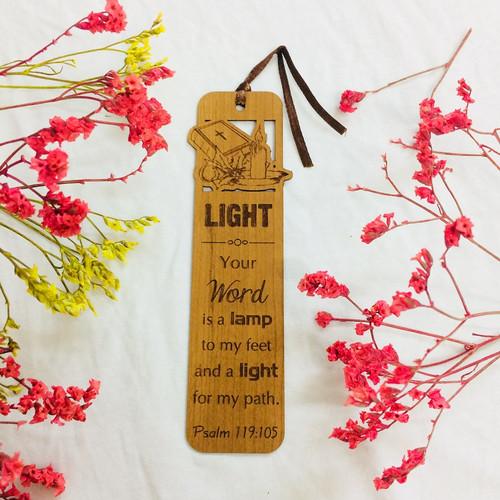 Bookmark Gỗ Lớn - Thi-thiên 119:105 Tiếng Anh - BM-GK-L-21