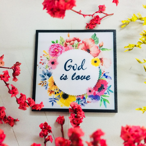 Nam Châm Dán Tủ Lạnh Vuông - God Is Love - NC-S-07