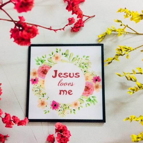 Nam Châm Dán Tủ Lạnh Vuông - Jesus Loves Me- NC-S-08