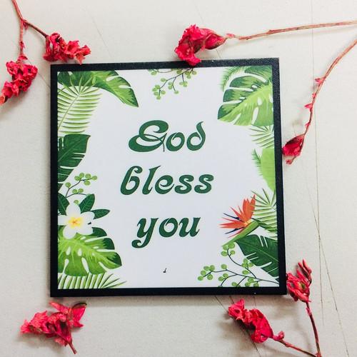 Nam Châm Dán Tủ Lạnh Vuông - God Bless You - NC-S-11