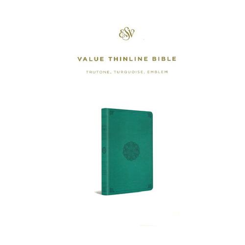 Kinh Thánh Tiếng Anh - Bản English Standard Version ESV Large Print Thinline - Bìa Xanh Ngọc - KTTA-1056