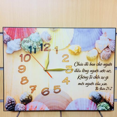 Đồng Hồ Lamina Cơ Đốc Treo Tường - Thi-thiên 21:2 - DH-1071
