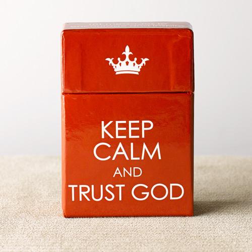 Hộp Card Thông Điệp Tin Cậy  - Keep Calm And Trust God - BX086