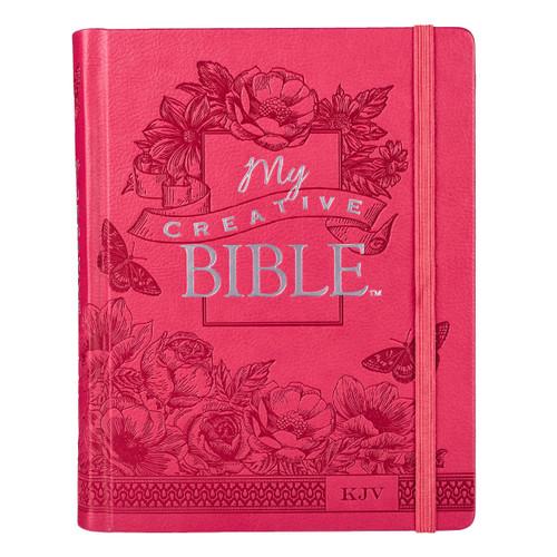 Kinh Thánh Tiếng Anh Journal Bible - Bản King James Version KJV - My Creative Bible - Bìa Hồng - KJV030