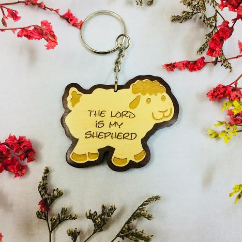 Móc Khoá Gỗ - Thi-thiên 23:1 - Tiếng Anh - MK-GO-13