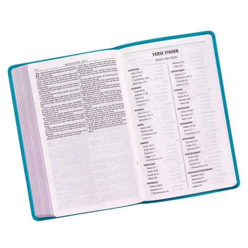 Kinh Thánh Tiếng Anh - Bản King James Version KJV - Bìa Da Màu Xanh Ngọc - KJV059
