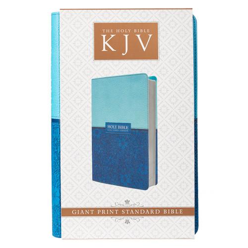 Kinh Thánh Tiếng Anh - Bản King James Version KJV - Bìa Da Màu Xanh Dương - KJV036