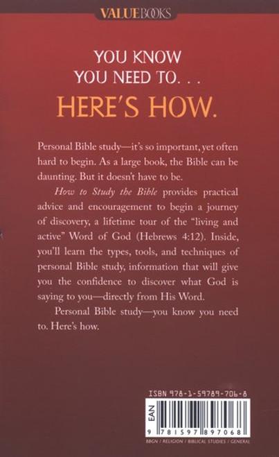 Sách Hướng Dẫn Cách Học Kinh Thánh - How to Study The Bible (Tiếng Anh)