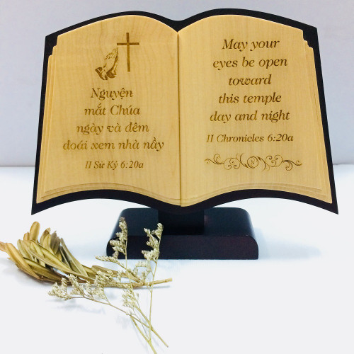 Quyển Sách Gỗ Để Bàn - II Sử Ký 6:20a
