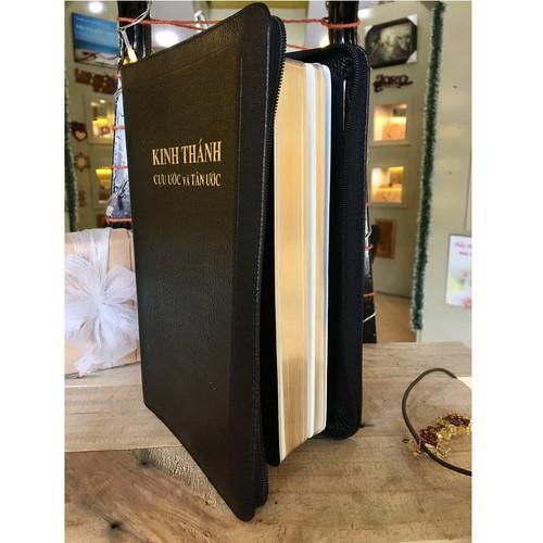 Kinh Thánh Tiếng Việt - Bản Truyền Thống -  Mạ Vàng - Bìa Dây Kéo (Lớn)
