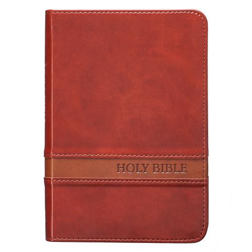 Kinh Thánh Tiếng Anh - Bản King James Version KJV - Bìa Da Màu Đỏ Nâu - KJV034
