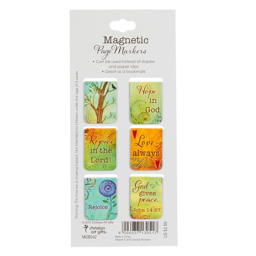 Bộ Bookmark Nam Châm - God Gives Peace - BMNC-MGB042