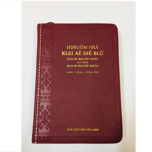 Kinh Thánh Tiếng Ê-đê - Trọn Bộ - Bìa Dây Kéo (Màu Đỏ) - KTTV-001425