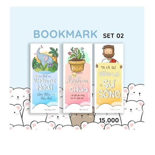 Bộ 3 Bookmark Giấy - Doris Set 02 - DO-1447