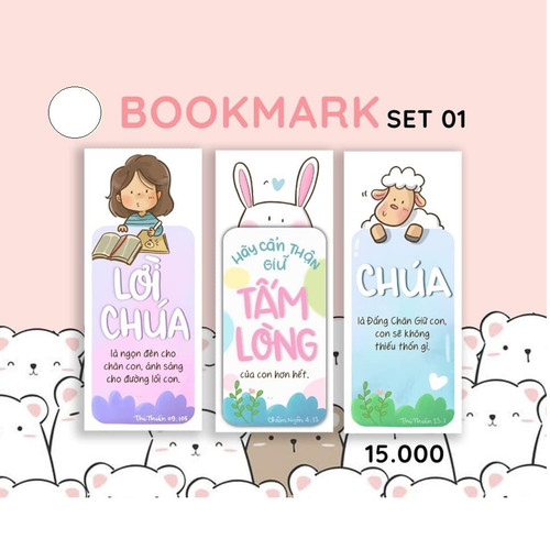 Bộ 3 Bookmark Giấy - Doris Set 01 - DO-1448