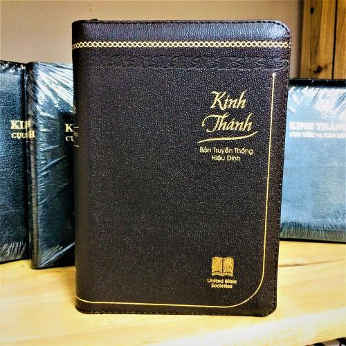 Kinh Thánh Tiếng Việt - Bản Truyền Thống Hiệu Đính - Mạ Vàng - Bìa Dây Kéo - KTTV-001474