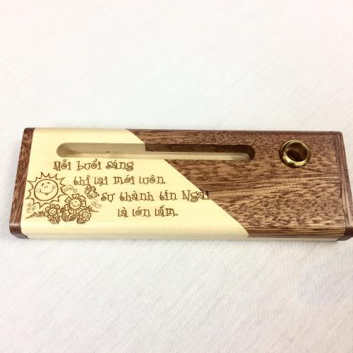 Hộp Bút Gỗ Hai Màu - Ca Thương 3:23 - BUT-1490