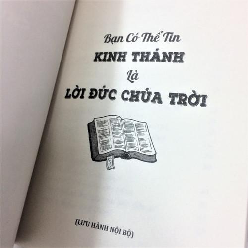 Sách Bạn Có Thể Tin Kinh Thánh Là Lời Đức Chúa Trời - KG-XT-56