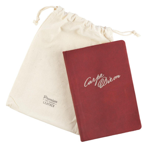 Sổ Tay Cơ Đốc Ngoại Nhập - Carpe Diem Full Grain Leather Journal - JL308