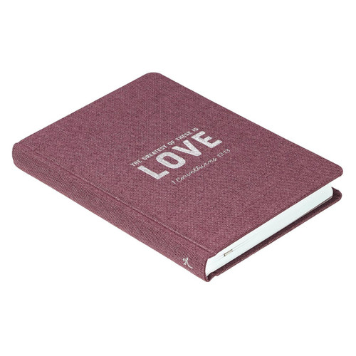 Sổ Tay Cơ Đốc Ngoại Nhập - Love Hardcover Linen Journal- 1 Cô-rinh-tô 13:13 - JL351