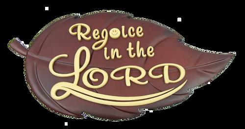 Gỗ trang trí treo tường - Chiếc Lá Rejoice In The Lord - DG-0158