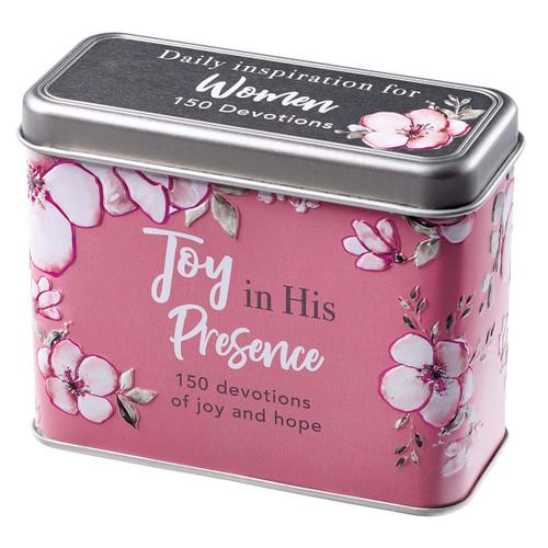 Hộp Card Vui Mừng Trong Sự Hiện Diện Của Ngài - Joy in His Presence Devotional Cards - TIN018