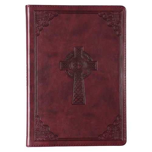 Sổ Tay Cơ Đốc Ngoại Nhập -  Leather Journal with Celtic Cross - JL368