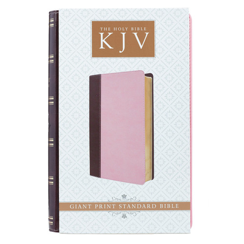 Kinh Thánh Tiếng Anh - Bản King James Version KJV - Giant Print Bible Bìa Hồng - KJV039