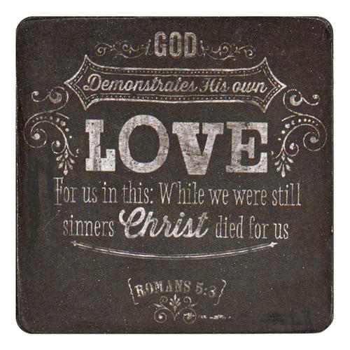 Nam Châm Gỗ Dán Tủ Lạnh - Rô-ma 5:8 - NC-MGW018