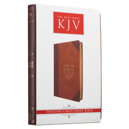 Kinh Thánh Tiếng Anh - Bản King James Version KJV - Large Print Thinline Bible Bìa Nâu - KJV055