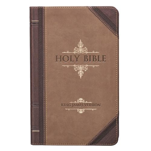 Kinh Thánh Tiếng Anh - Bản King James Version KJV - Giant Print Bible Bìa Nâu Sẫm  - KJV038