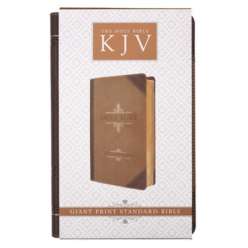 [HẾT HÀNG] Kinh Thánh Tiếng Anh - Bản King James Version KJV - Giant Print Bible Bìa Nâu Sẫm  - KJV038