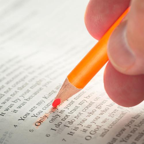 Bút Chì Đánh Dấu Kinh Thánh - Màu Cam Neon - PCST235
