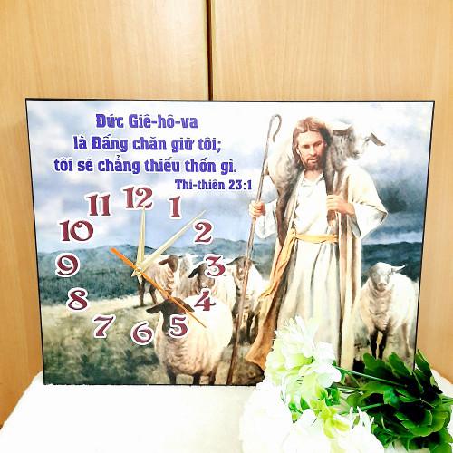 Đồng Hồ Lamina Cơ Đốc Treo Tường - Thi-thiên 23:1 - DH-0215