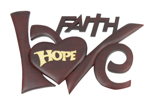 Gỗ Trang Trí Treo Tường - Faith Hope Love - DG-01-06