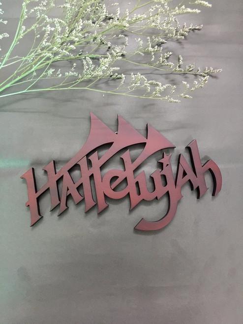 Gỗ trang trí treo tường - Chữ Hallelujah 3 Cây Kèn - DG-01-11