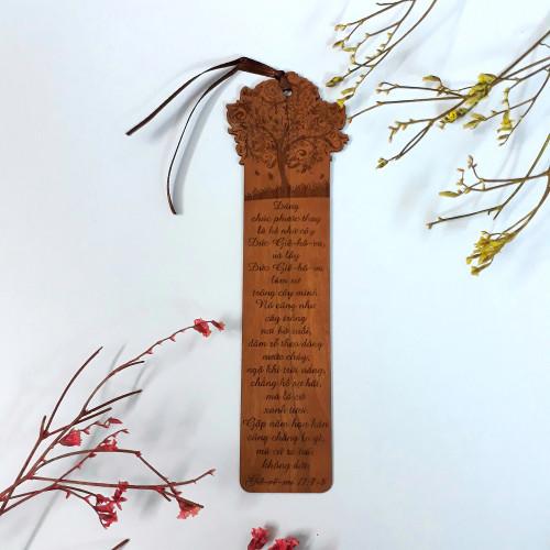 Bookmark Gỗ lớn - Giê-rê-mi 17:7-8