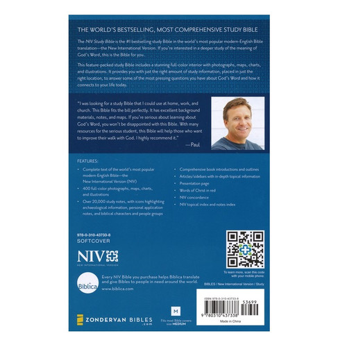 Kinh Thánh Tiếng Anh Nghiên Cứu - NIV Study Bible - KTTA-0408