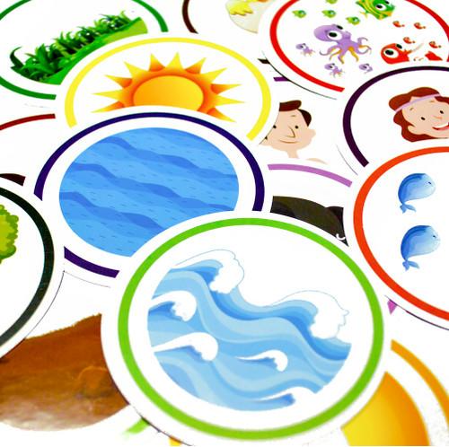 Bộ Thẻ Game - 6 Ngày Sáng Tạo - KG-GAME-01