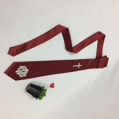 Cà Vạt - Thập Giá Jesus - Màu Đỏ - SPKC-000740